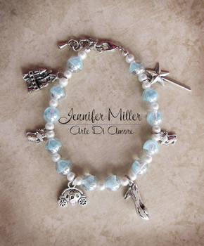 Cinderella Beaded Charm Bracelet