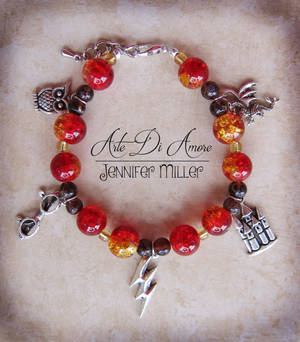 Harry Potter Beaded Charm Bracelet