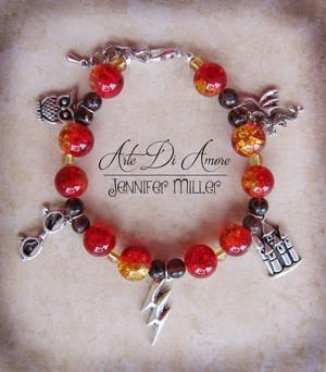 Harry Potter Beaded Charm Bracelet