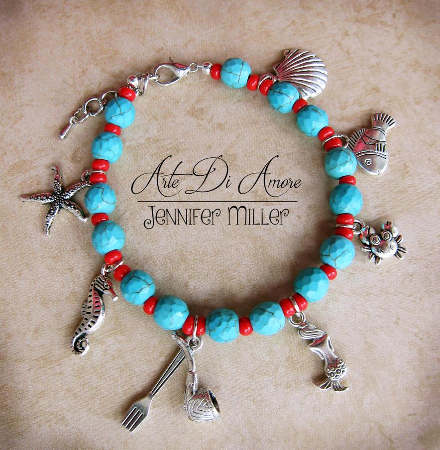 The Little Mermaid Beaded Charm Bracelet by ArteDiAmore