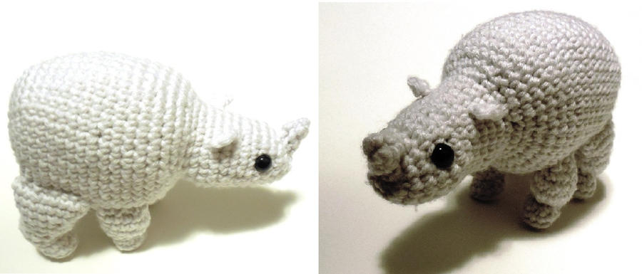 Amigurumi Rhino : Rhino Amigurumi pattern available by StarbeamerPatterns on ...