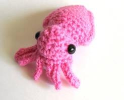 Mini Cuttlefish Amigurumi/Plush pattern available by StarbeamerPatterns