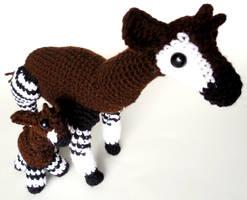 Miniature and Large Okapi Amigurumi/Plush Toys by StarbeamerPatterns