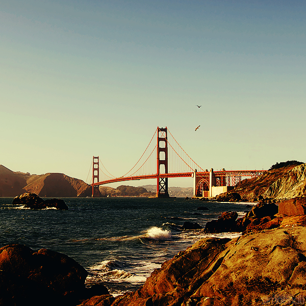 golden gate bridge. by simoendli