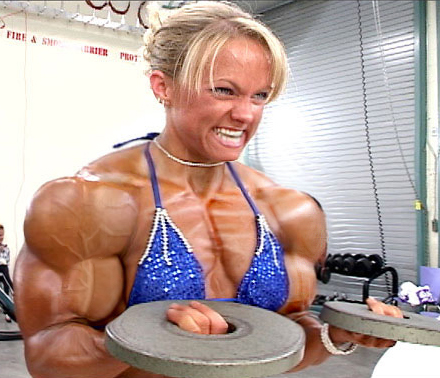Female muscle 10 by bigdane
