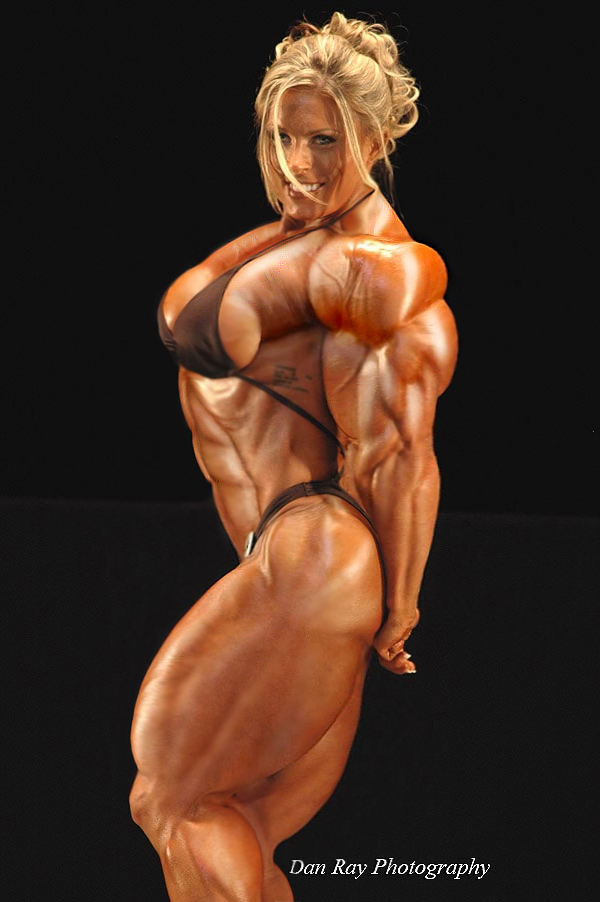 Drawings of women bodybuilders