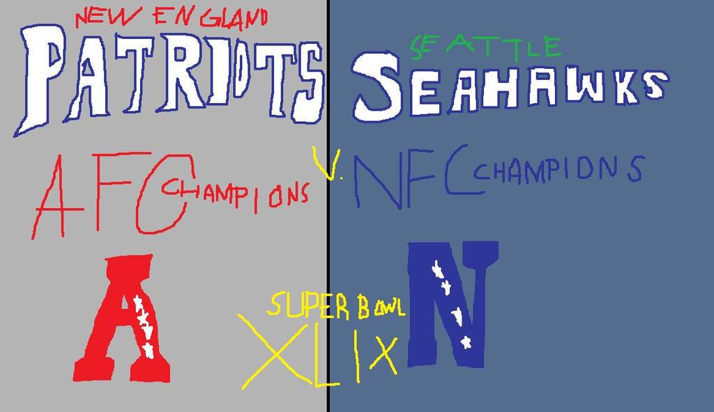 Super Bowl XLIX Patriots vs Seahawks by Athletic-Dashie