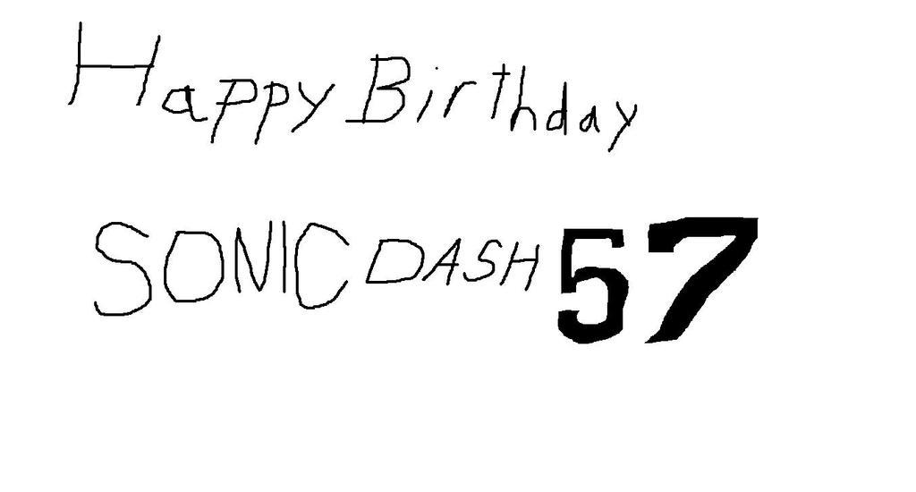 Birthday Gift: SonicDash57 by Athletic-Dashie