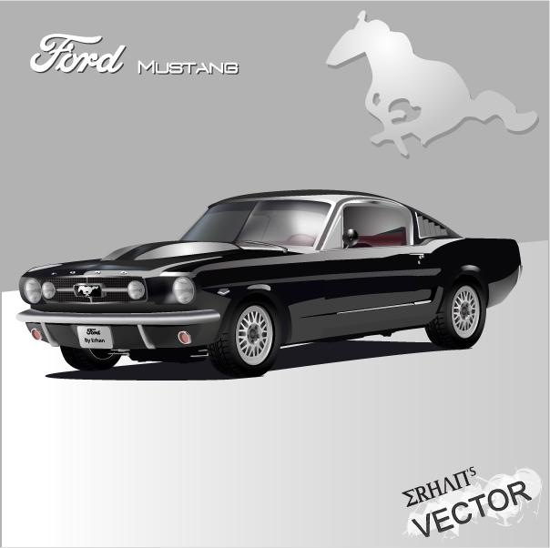 Ford Mustang 1965 - Vektör