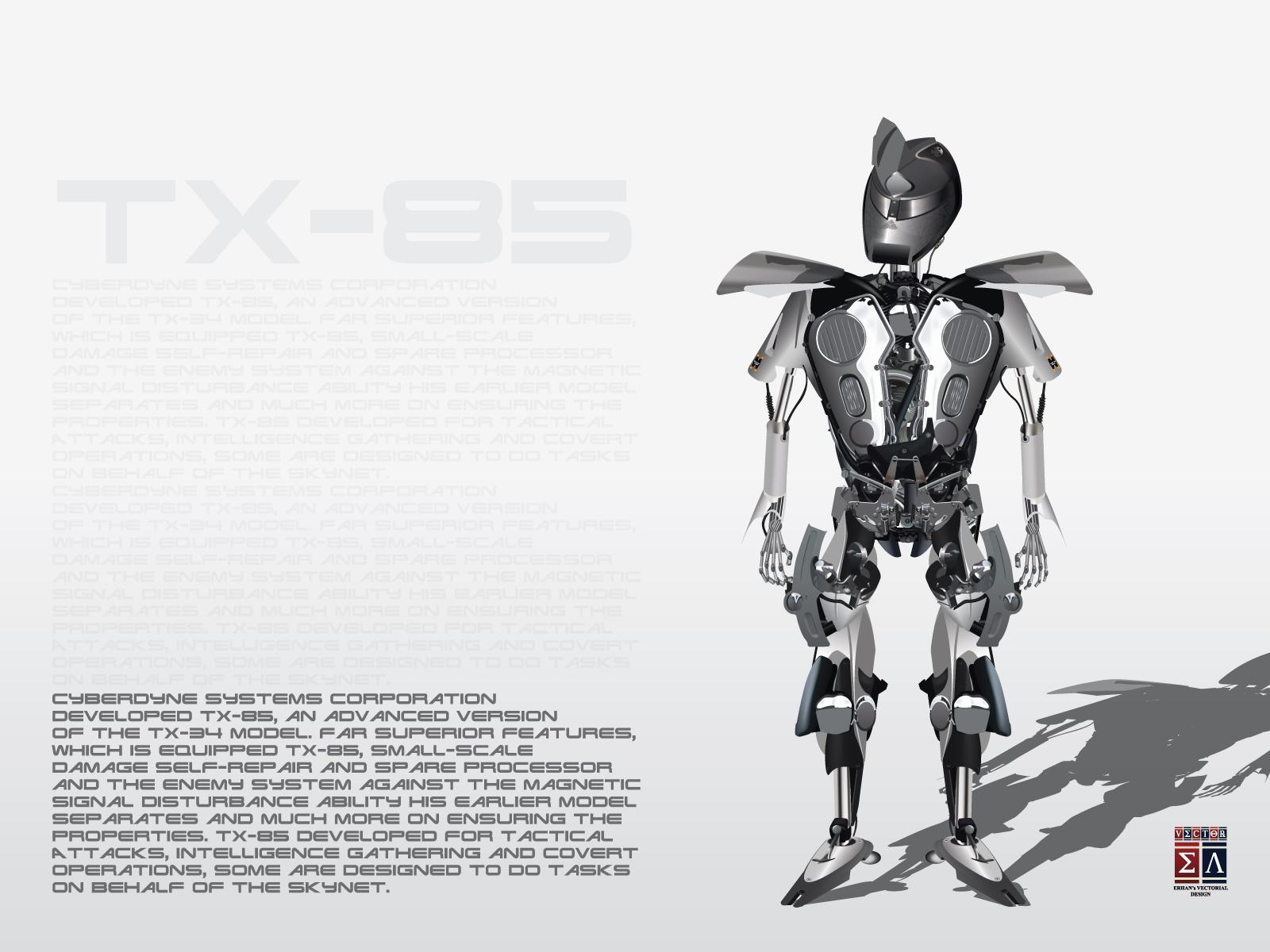 TX-85 Cybernetic Organism - Illustrasyon