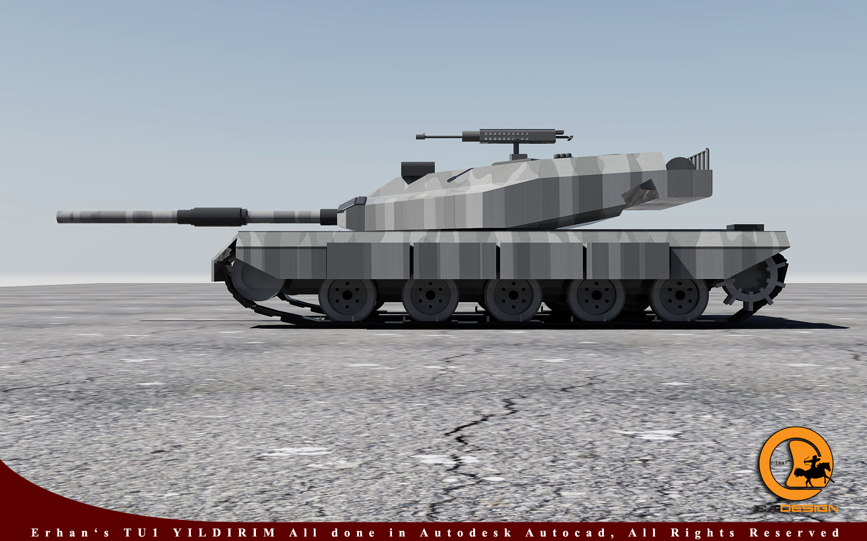 "TU-1 Yıldırım - 3D Tank ""Autocad 2010"""