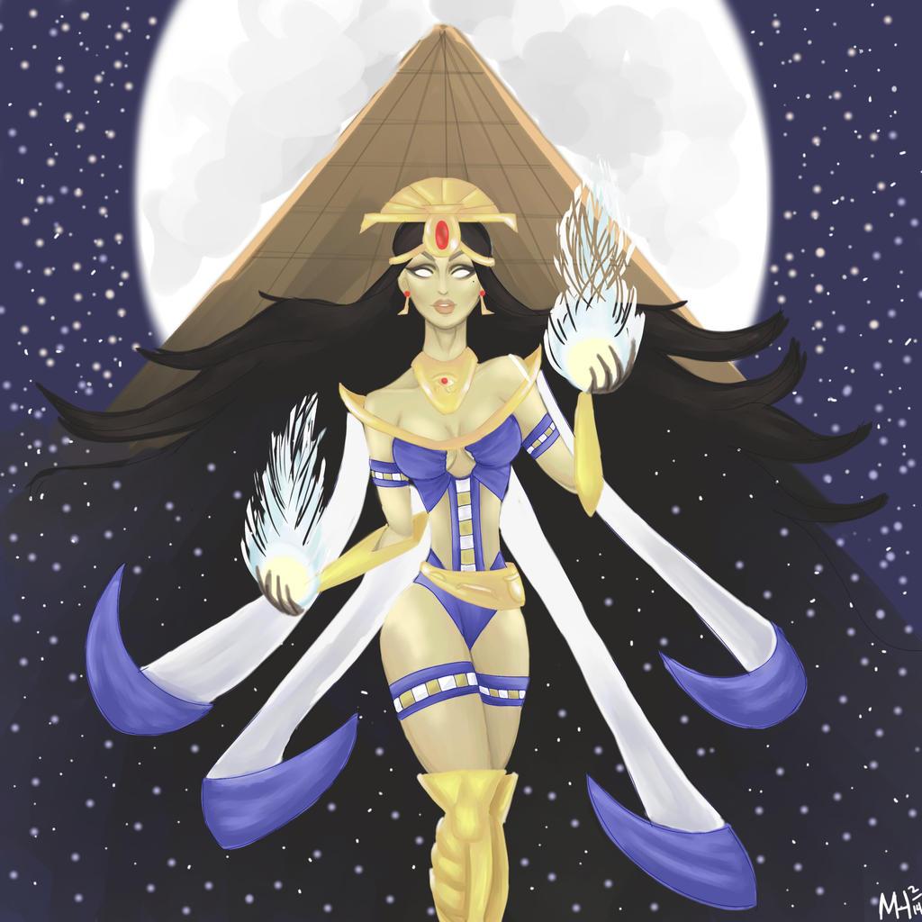Nut Goddess Of The Sky Art Smite