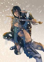 Snowfall - Fireangels Boys Love-Calendar 2014 by shuu-washuu