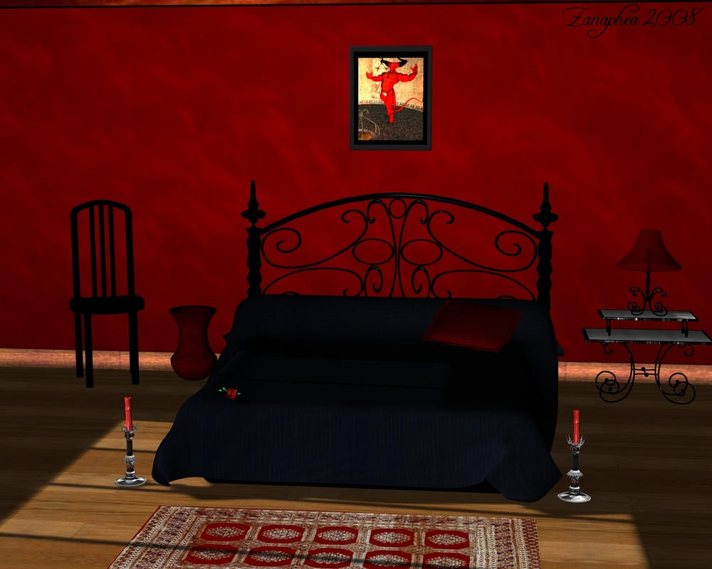 A romantic bedroom by zanaphea on deviantart for Black and white romantic bedroom ideas