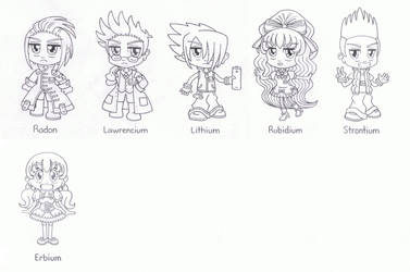 Elemental Tales Lineart 3 by BakerChemi