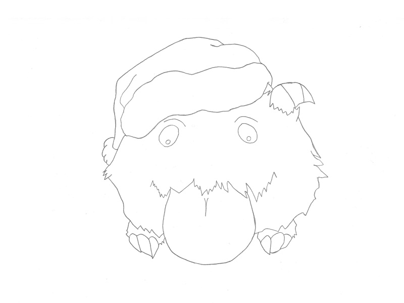 Line Drawing Xmas : Poro xmas by grimwhisper on deviantart