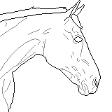 Draft Horse Pixel Lineart by xabovetheclouds
