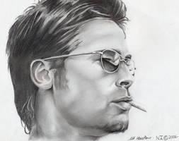 Brad Pitt by indigomoonshine