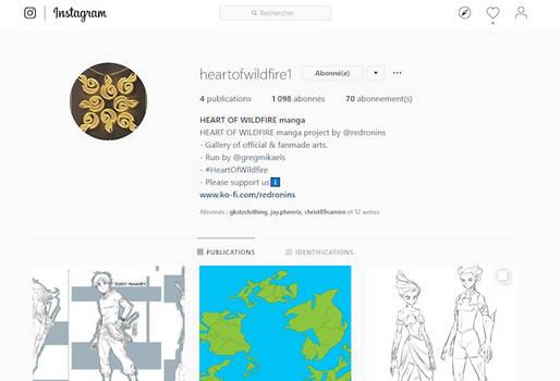 Heart Of Wildfire - Instagram account