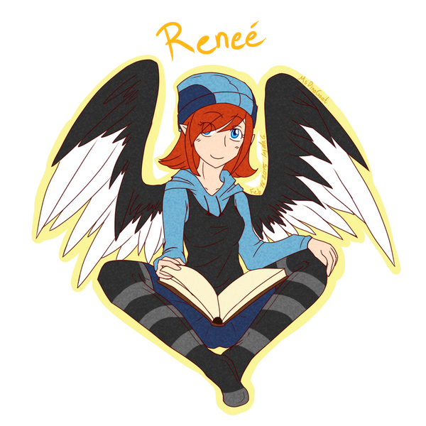 chara a day 4 Renee by MsDinoGoat