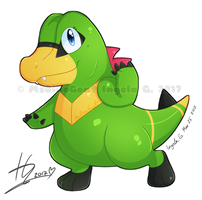 DinoGoat Totodile by MsDinoGoat