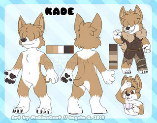 Kade reference sheet by MsDinoGoat