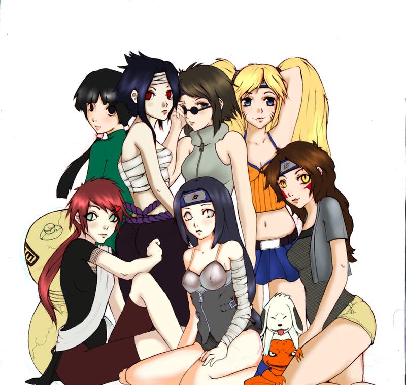 Naruto Uzumaki Harem - Hot Girls Wallpaper