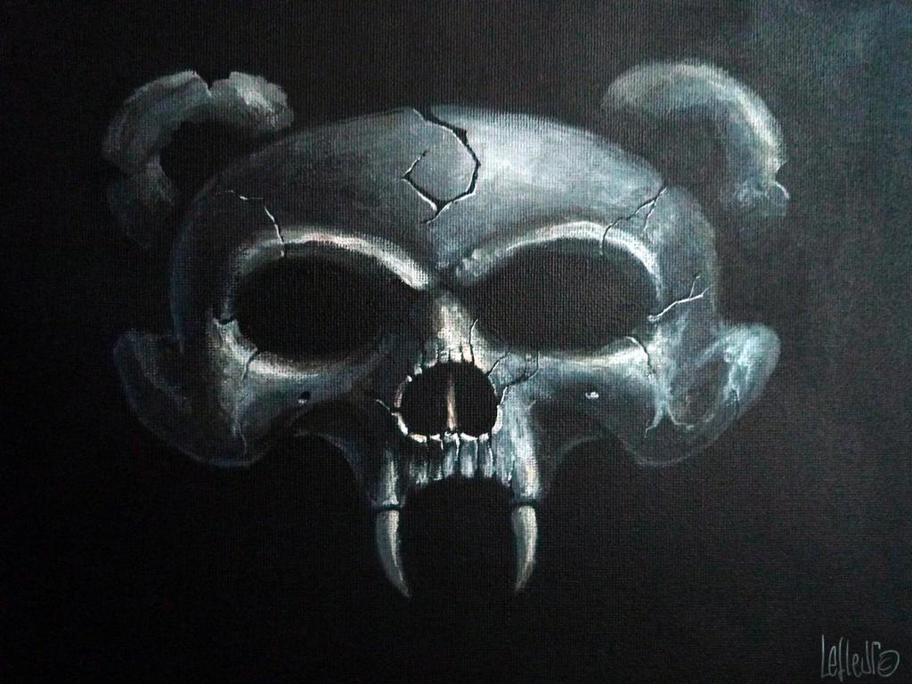 Chaosbaerskull CD cover conception acrylics canvas by Spoonygee