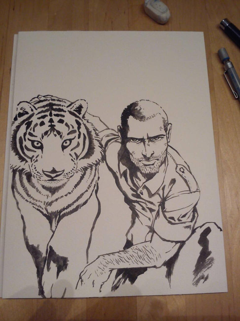 soldier with tiger by Spoonygee
