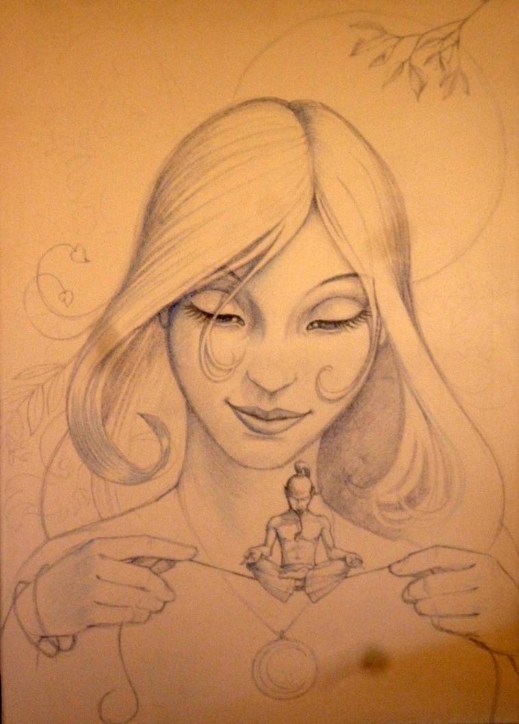 Muse -pencil sketch by Spoonygee