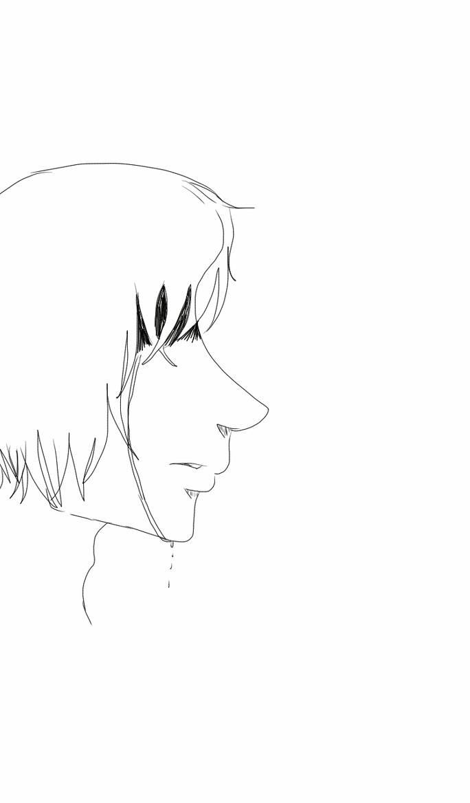Anime boy crying sketch by danikasanchez