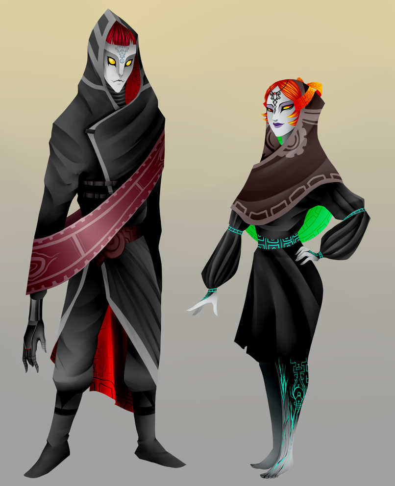 Zant and Midna redesign by Lenecian9