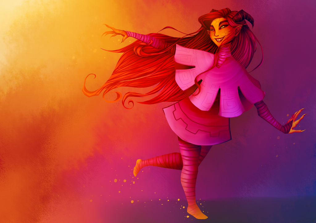 Ava Ire the Girl on Fire by Lenecian9