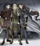 Legolas, Elladan, and Elrohir
