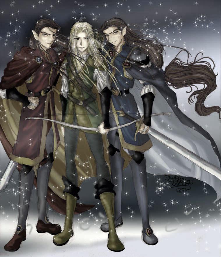Legolas, Elladan, and Elrohir by shiryuu on DeviantArt