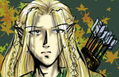 Legolas tablet doodle by shiryuu
