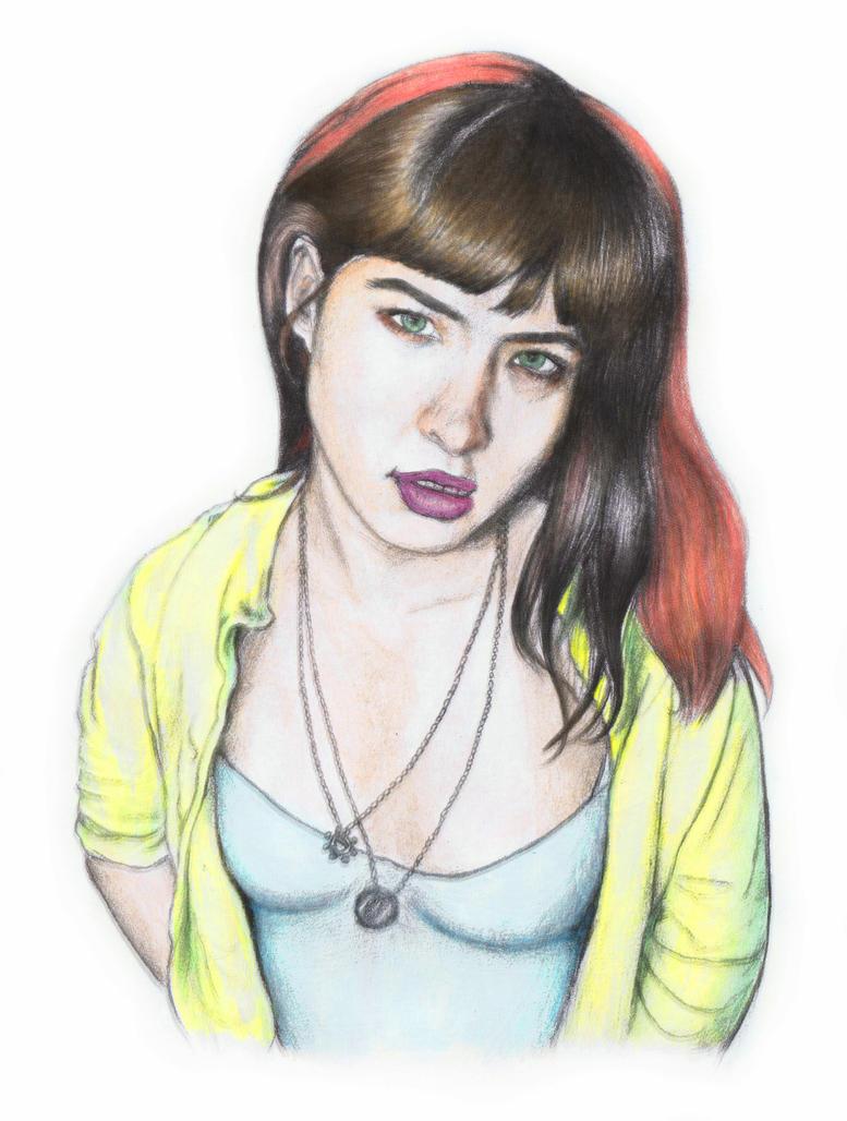 Kathleen Hanna (colored) by aizerkul on DeviantArt
