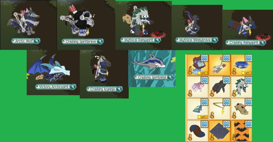 all my animals and my trade list on animal jam by ...