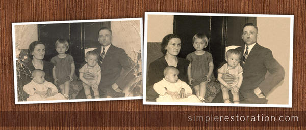 Old and damaged Photo Repair 7 by SimpleRetouch