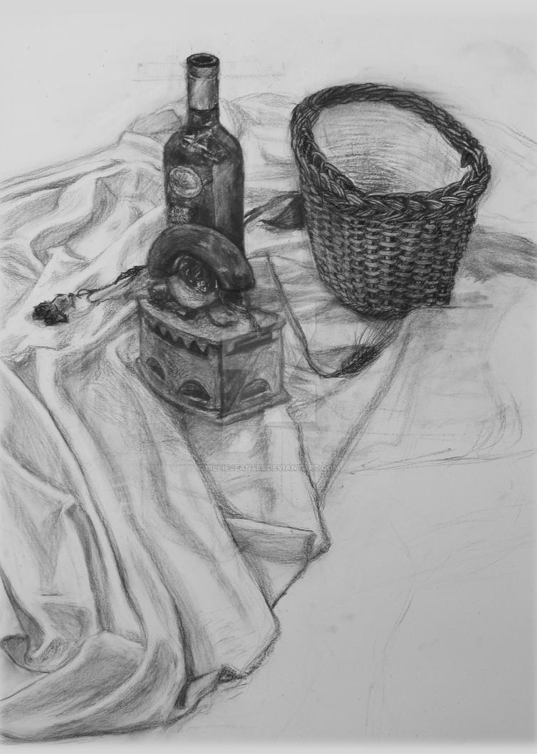 Still Life Drawing WIP by BillieJean485