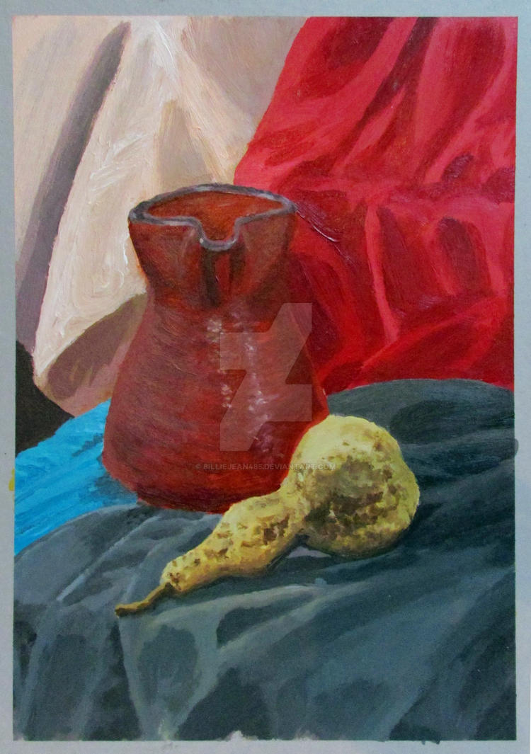 Still Life - First Acrylic Painting by BillieJean485