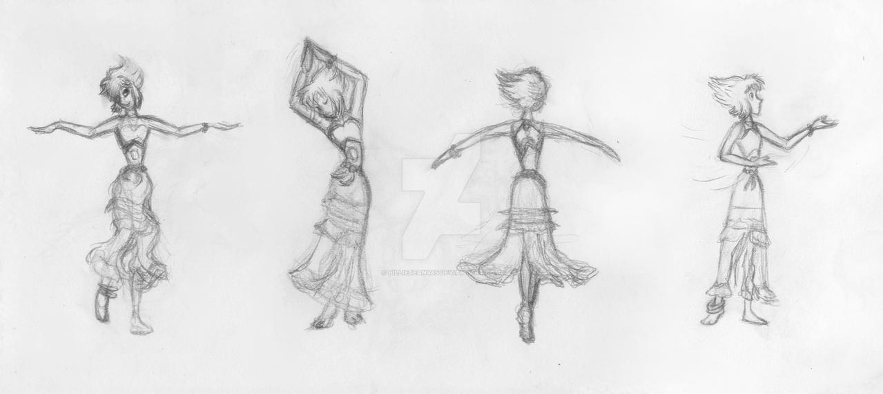 Emerald's Dancing Poses by BillieJean485