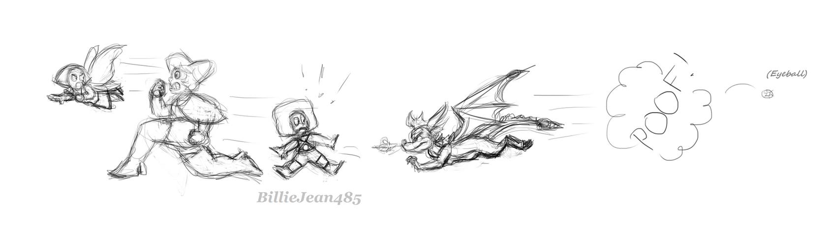 Spyro Chasing Gems by BillieJean485