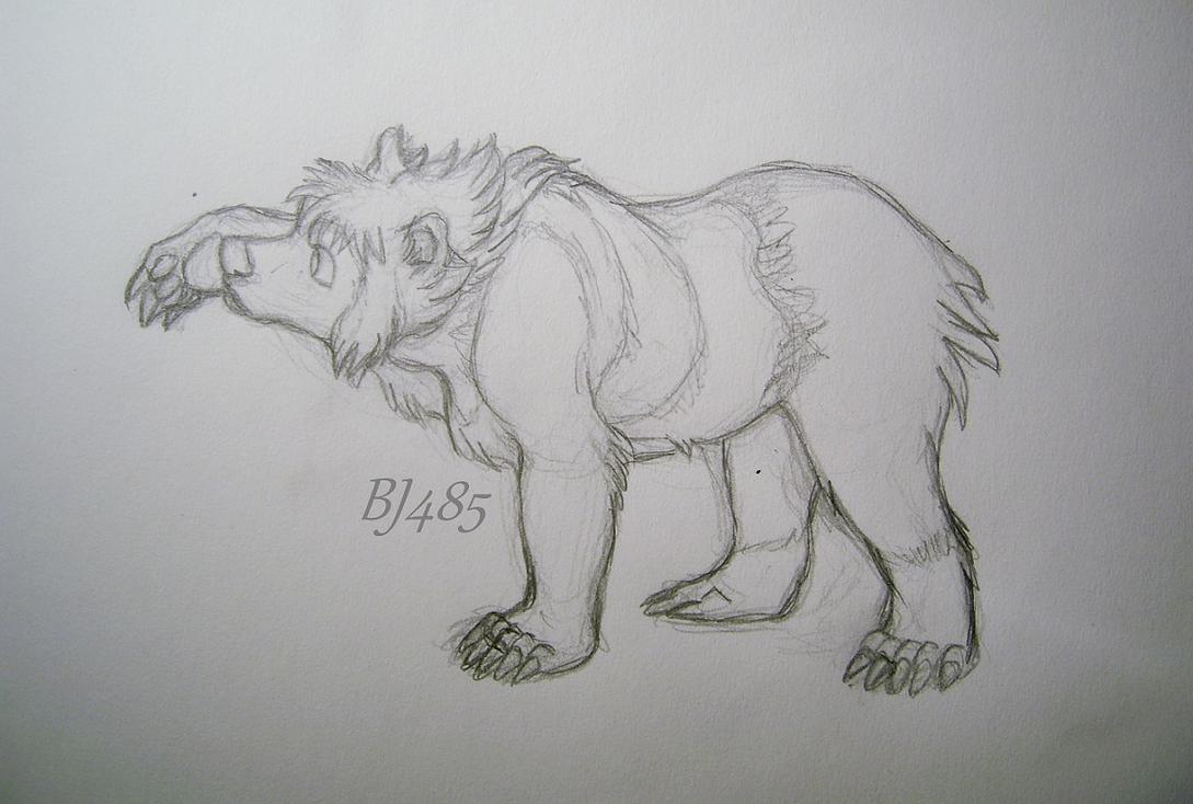 Emi Inspecting The Bear Paw by BillieJean485