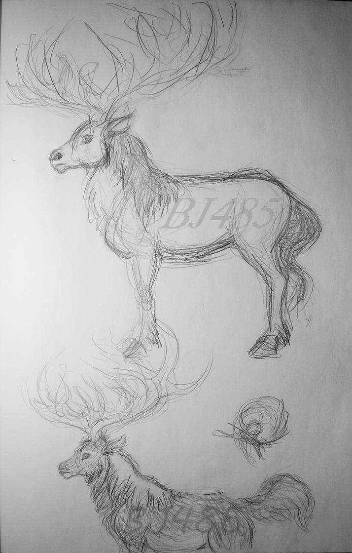Deer x Horse Creature by BillieJean485