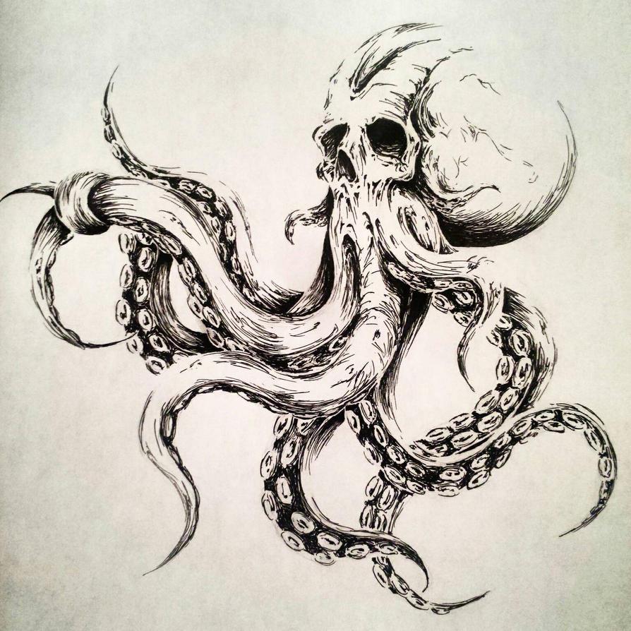 octopus illustration by melkorbaulgir on deviantart. Black Bedroom Furniture Sets. Home Design Ideas