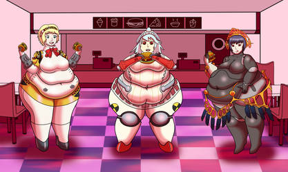 Commission - Persona: Hamburger Rush