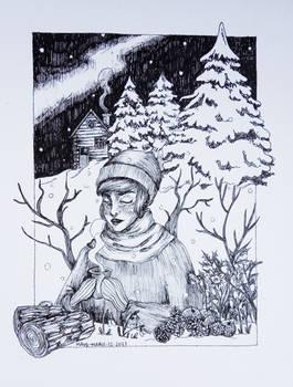 Winter - Pen illustration