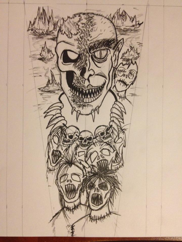 Forearm tattoo design by brandonhenning on deviantart for Forearm tattoo sketches