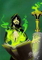 Dark Wizard and His Grimoire